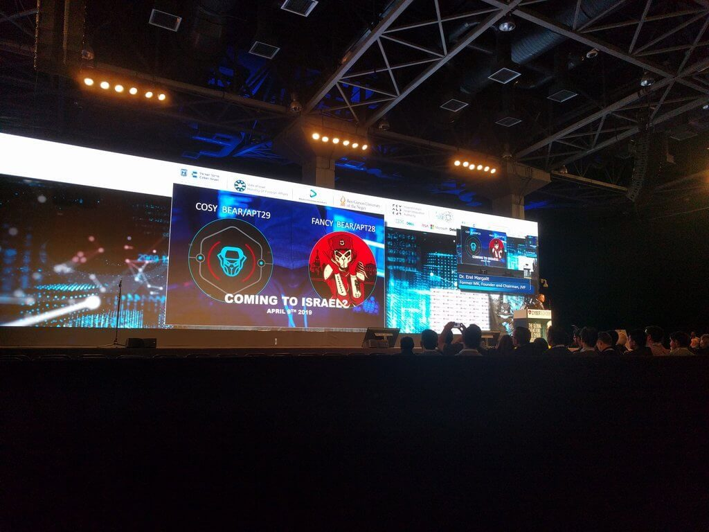 Picture from stage of CyberTech Tel Aviv 2019
